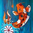 Dancing Koi Fish by HiddenCityArt