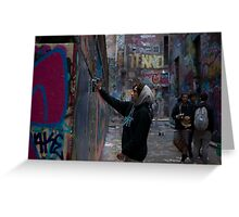 Graffiti Artist - Rutledge Lane Melbourne Greeting Card