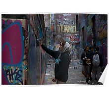 Graffiti Artist - Rutledge Lane Melbourne Poster
