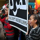 Melbourne anti Egypt president street march. by geof