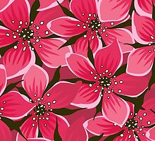Colorful Blossoms, Flowers and Petals - Pink  by sitnica