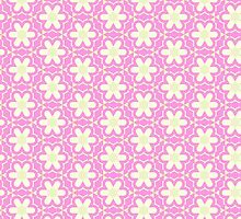 Blooming Flowers and Petals - Pink White by sitnica