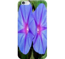 Vivid Blue, Purple and Pink Ipomoea Flowers iPhone Case/Skin