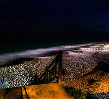 AT NIGHT ON THE BEACH WITH THE STARS... by buddybetsy