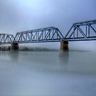 Bridge Under Fog - Murray Bridge, South Australia by Mark Richards