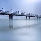 Bridge Under Fog III - Murray Bridge, South Australia by Mark Richards