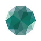 Geometric Blue Diamond by indurdesign
