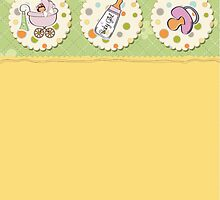 cute baby girl shower card by Balasoiu Claudia