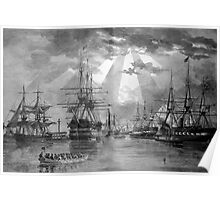 Civil War Ships Poster