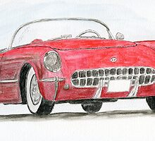 Corvette Red by Eva  Ason