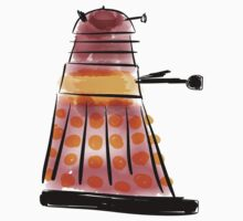 Red Dalek (side profile) by facingthewindow