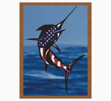 Red White and Blue Marlin by Scott Dovey