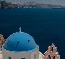 Symbol Of Santorini by Sergey Simanovsky