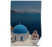 Symbol Of Santorini Poster