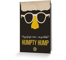 "Humpty Hump (Shock G)—""Hey yo fat girl, c'mere—are ya ticklish?"" Equal & Opposite funny glasses poster series. Part 2 of 2.  Greeting Card"