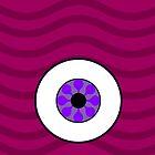 Psychedelic Purple Eye iPhone Case by somethingkinda