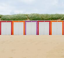Beach cabines in Domburg by 7horses