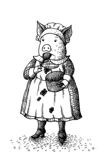 Pig - Girl by HanaStupica