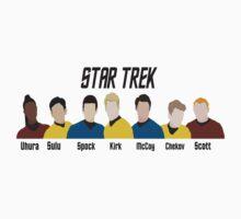Minimalistic Star Trek Crew by Olivia Hinde