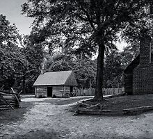 Colonial Virginia Farmstead by Wib Dawson