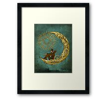 Moon Travel Framed Print