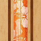 Haleiwa Hawaiian Faux Maple Wood Surfboard - Orange  by DriveIndustries