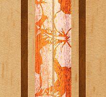 Haleiwa Hawaiian Faux Maple Wood Surfboard - Orange  by DriveIndustries