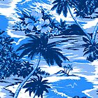 Napili Bay Scenic Hawaiian Aloha Shirt Print - Blue by DriveIndustries