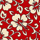Malia Hawaiian Hibiscus Aloha Shirt Print - Red by DriveIndustries