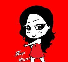 Naya Rivera Chibi (Red) by LexyDC