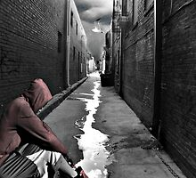 The hoody boy and the dark alley by ctdgraphicx