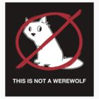 A Regular Wolf is Not a Werewolf (Sticker) by ArgyleWerewolf