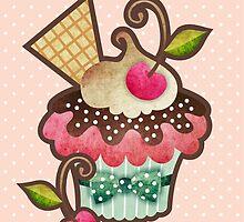 Cherry Cupcake by prettycritters