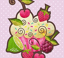 Tutti Frutti Cupcake by prettycritters