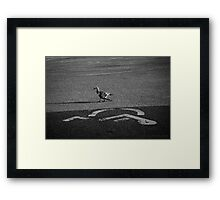I See What You Did There Framed Print