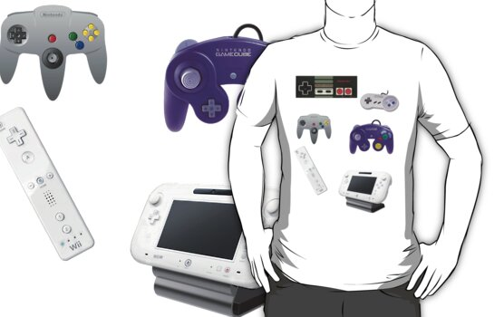 Nintendo Controller Collage Shirt by Cobo1742