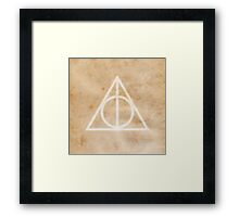 Deathly Hallows on Parchment Framed Print