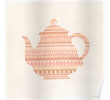 The Peach Teapot Poster