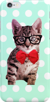 Hipster Kitty by hannahison
