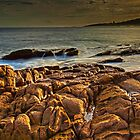Last Light on Rocks by bazcelt