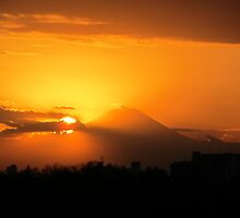 Mt Fuji on fire by CateSwift