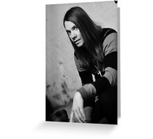 Ronnie Winter - Red Jumpsuit Apparatus Greeting Card