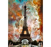 The Eiffel Tower - Paris France Art By Sharon Cummings Photographic Print
