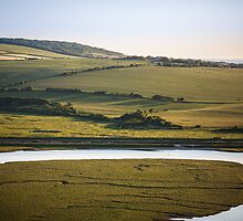 cuckmere valley detail by James Calvey