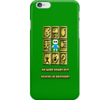 No more bombs but power up brothers iPhone Case/Skin