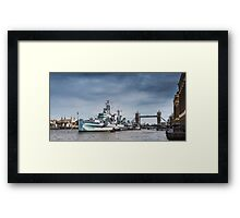 The Boat, Bridge & Tower Framed Print