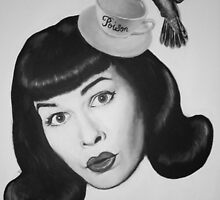Bettie Teacup Page by ARTANGELL