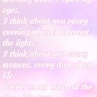 """""""I Think About You"""" by Agronlly"""