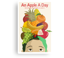 An Apple A Day- Health Poster Metal Print