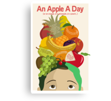 An Apple A Day- Health Poster Canvas Print